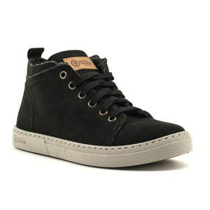 Natural World | Eco Friendly Suede Black High Tops